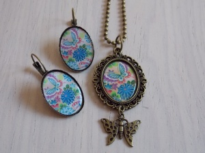 conjunto vintage mariposa