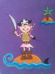 dibujo niña pirata